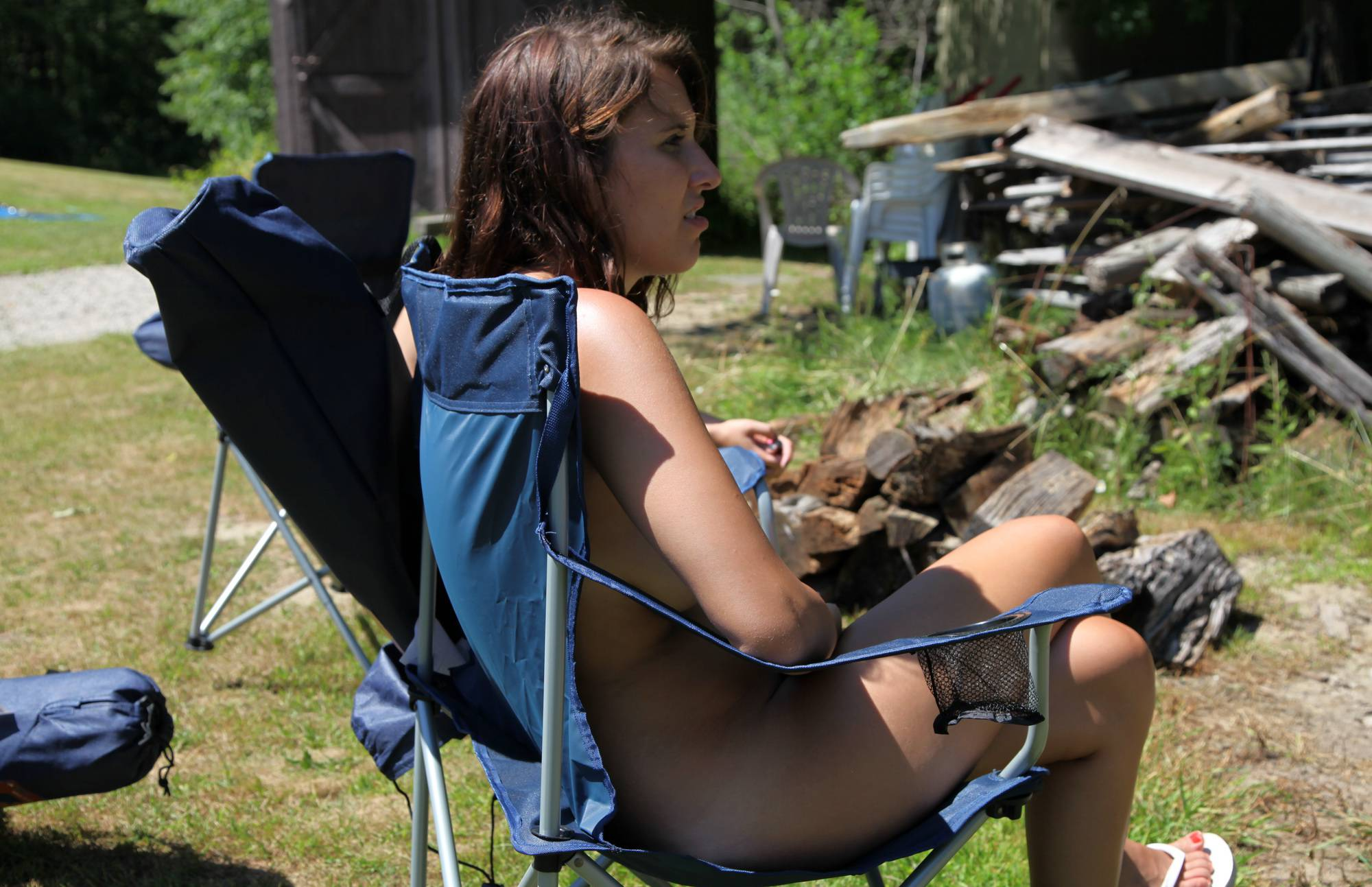 Nudist Photos Barbecue Grilling Time - 1
