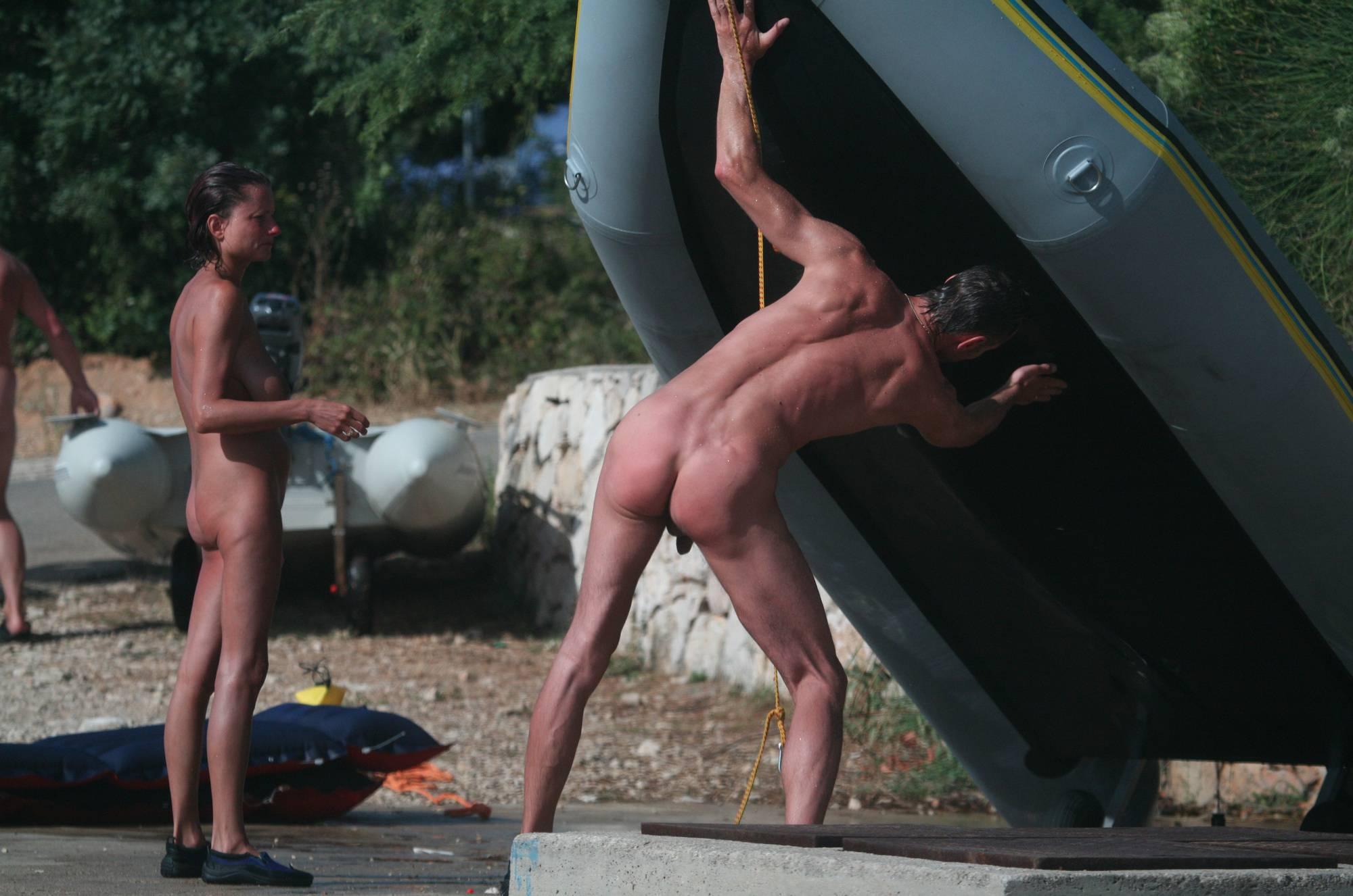 Nudist Photos Bares Boat Prepareation - 1