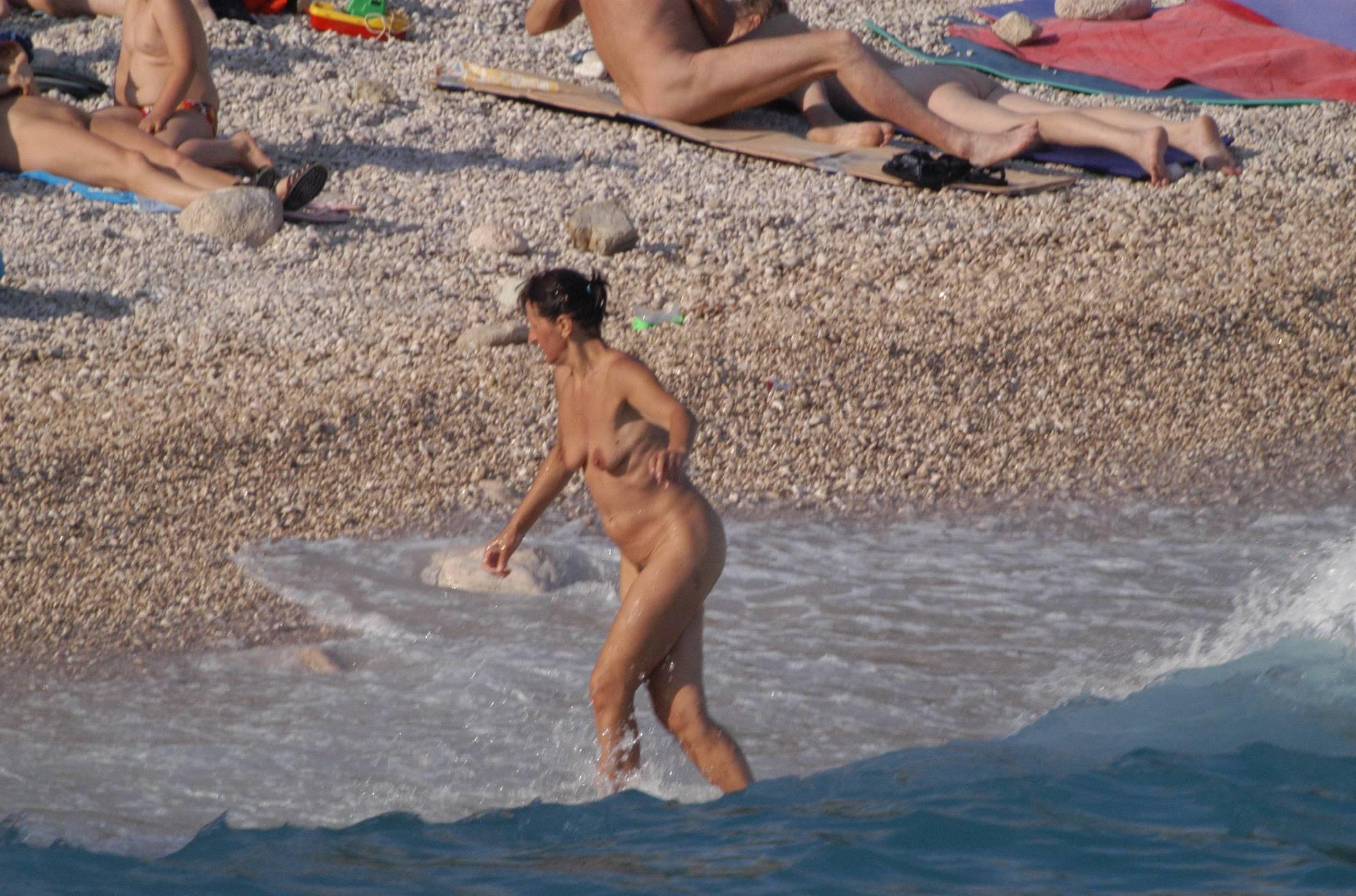 Nudist Pics Baska Rock-Wall Beach - 2