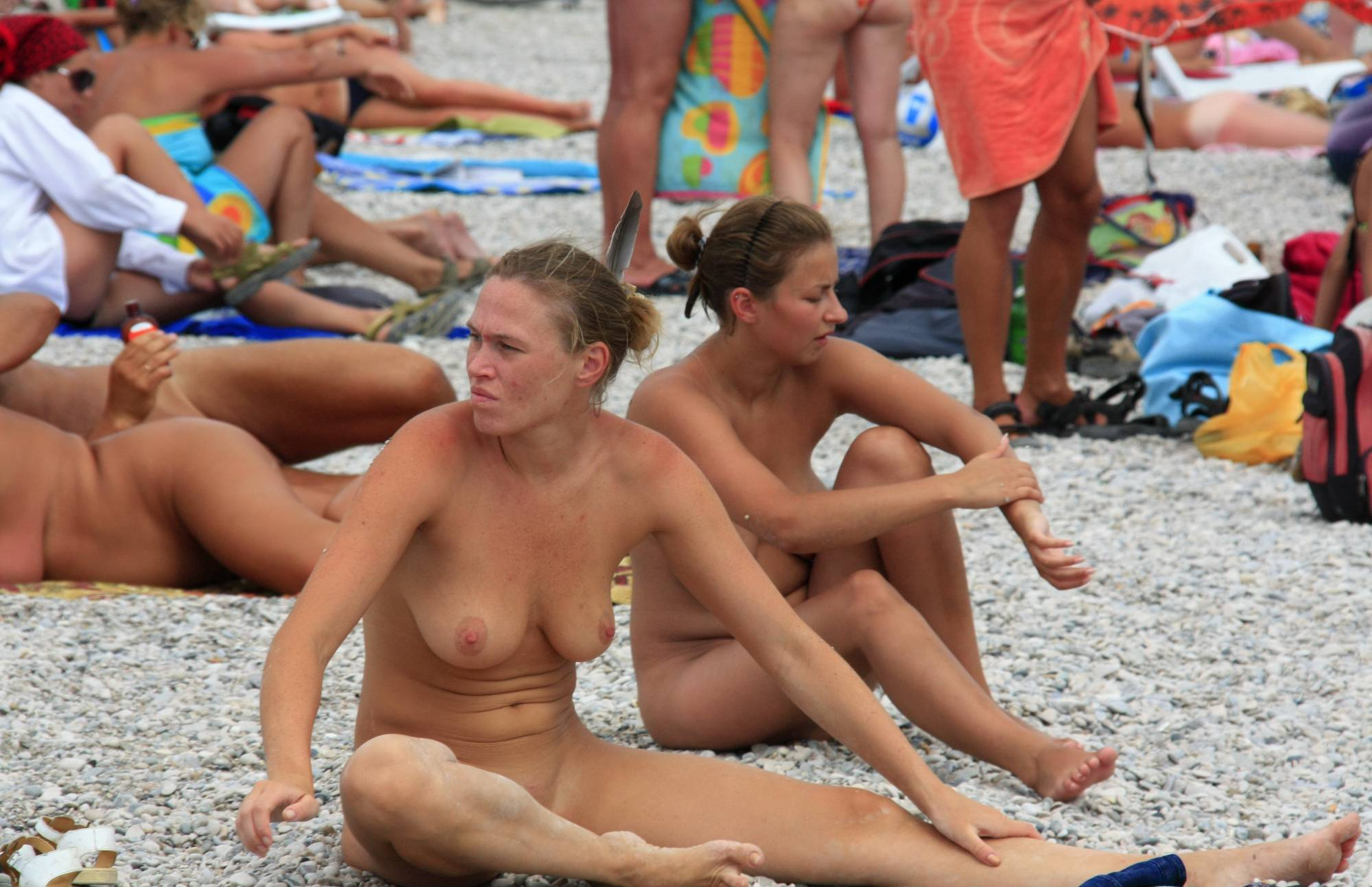 Nudist Photos Beach Paints and Girl Rests - 2