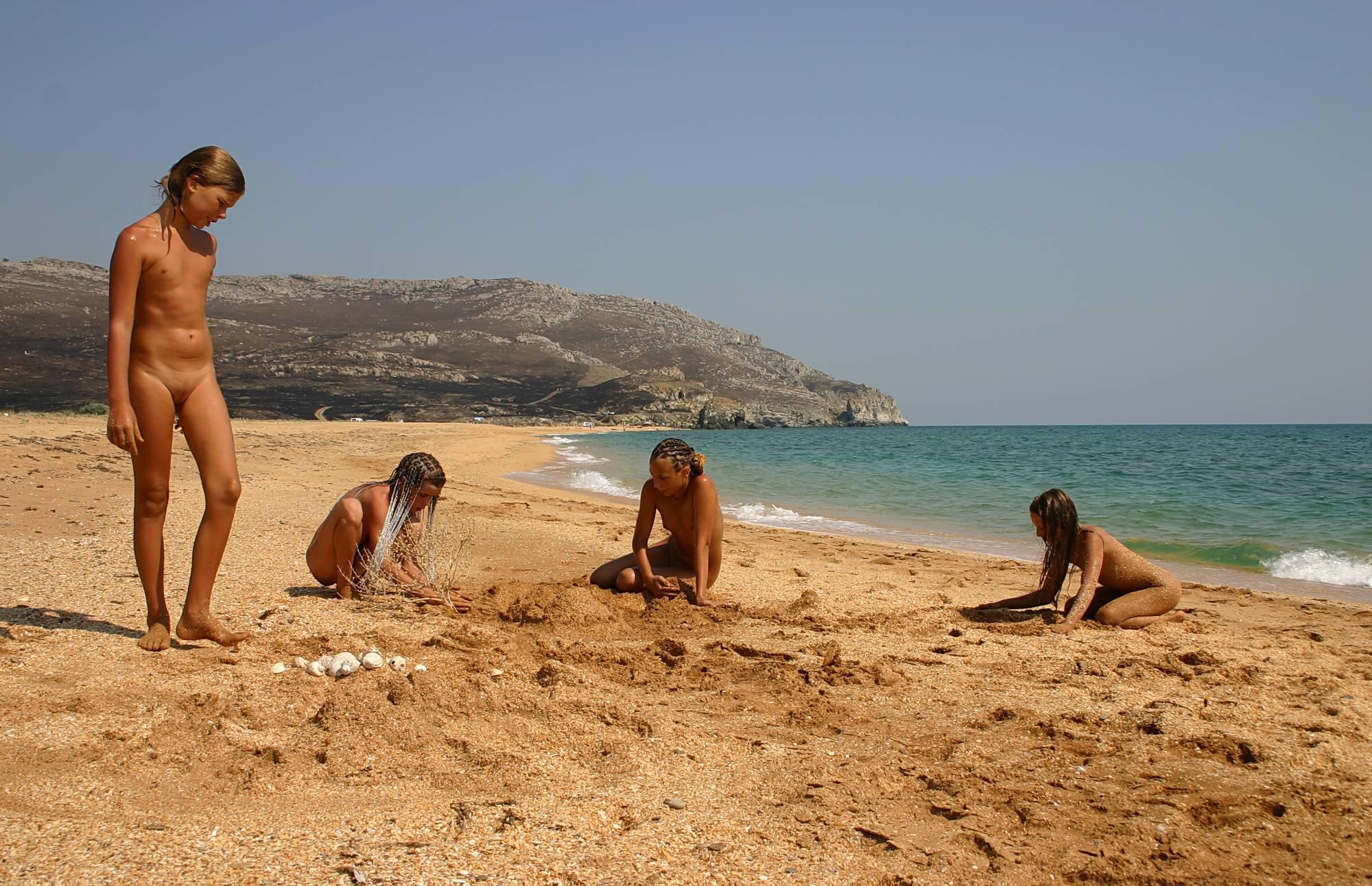 Nudist Gallery Beachside Sandy Mermaid - 1