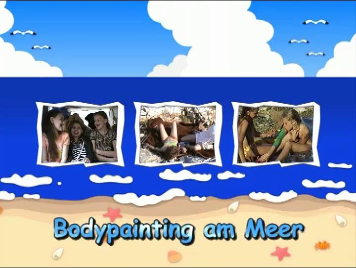 Nudist Videos Bodypainting am Meer - Poster