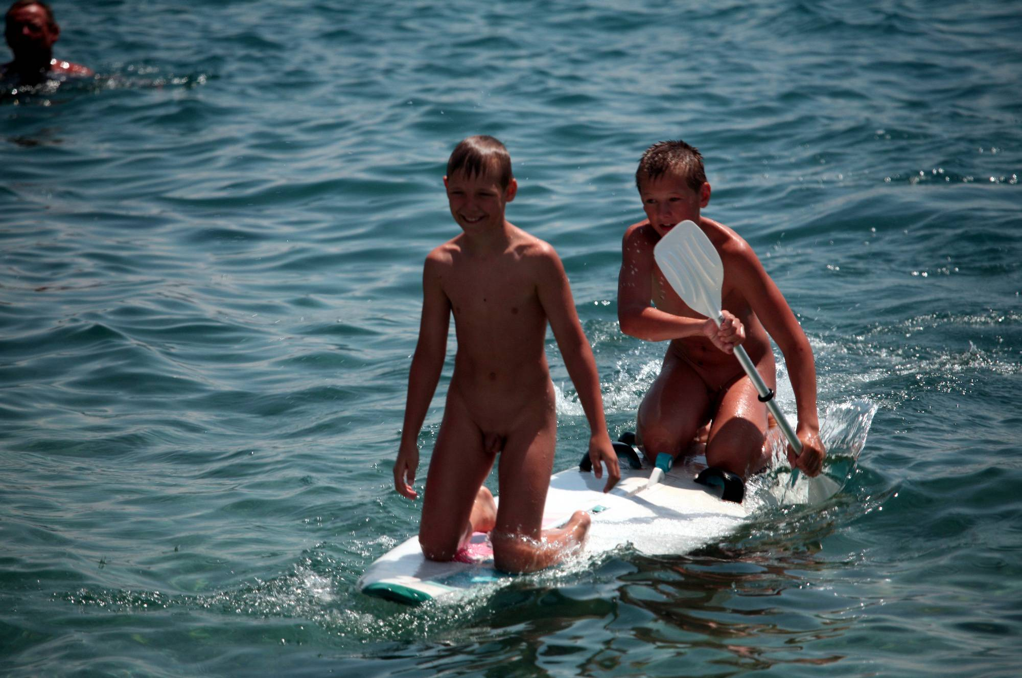 Boys Nudist Water Surfing - 1