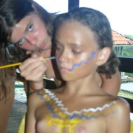 Brazilian Kid Body Painting
