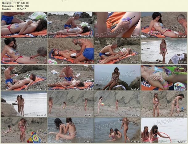 Frames Body Art Nudist Beach. Part 1 1