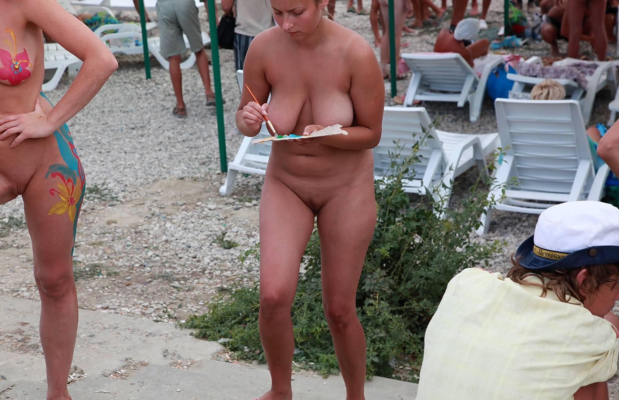 Nudist Pics Calmly Relaxing Outside - 2