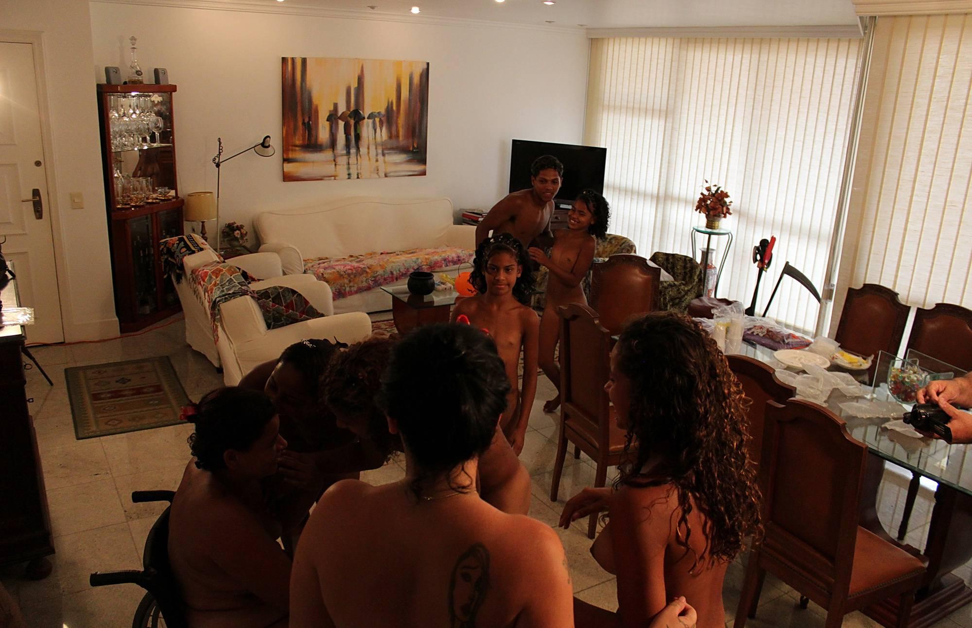 Nudist Gallery Dining Room Greeting - 1