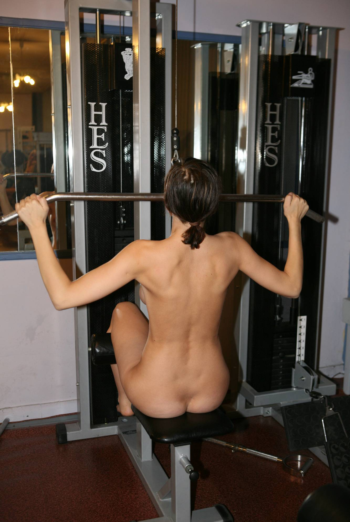Nudist Pictures Gymnasts Enjoy Pull Ups - 2