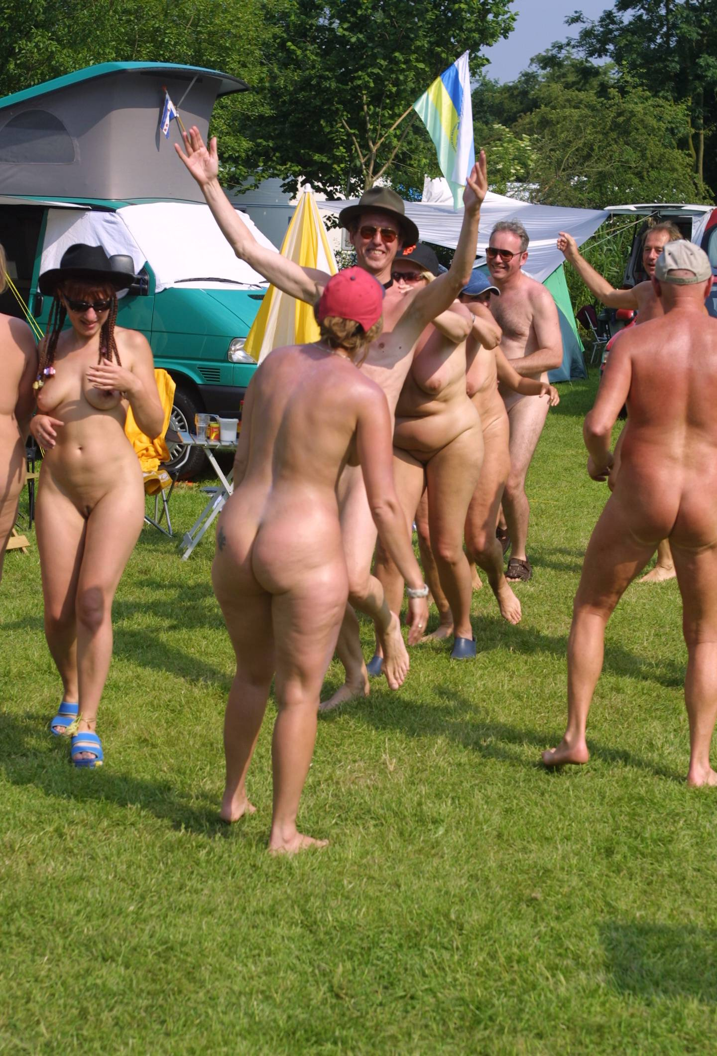 Holland Nude Group Photo - 2