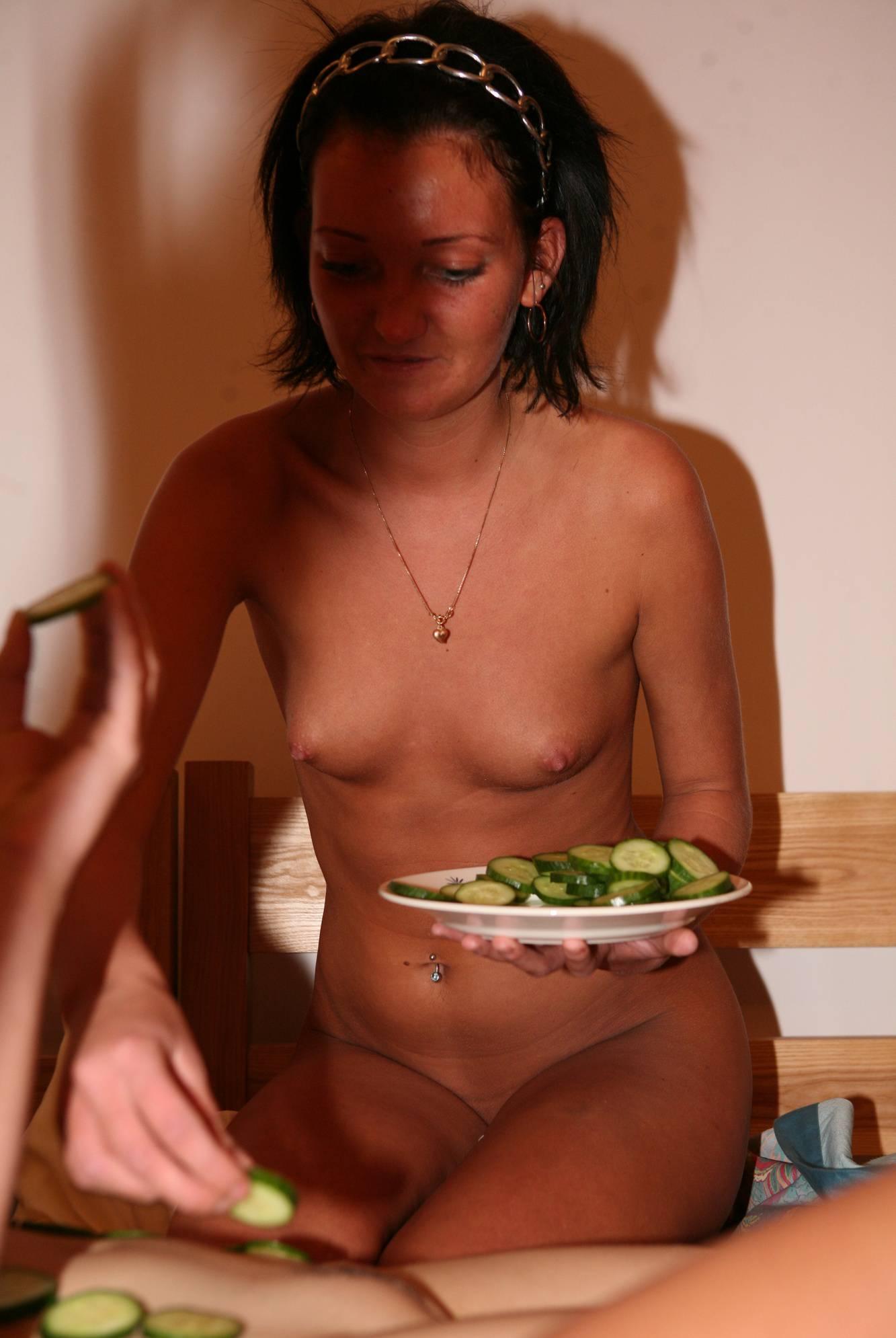 Nudist Pictures Jacuzzi Cucumber Mask - 2