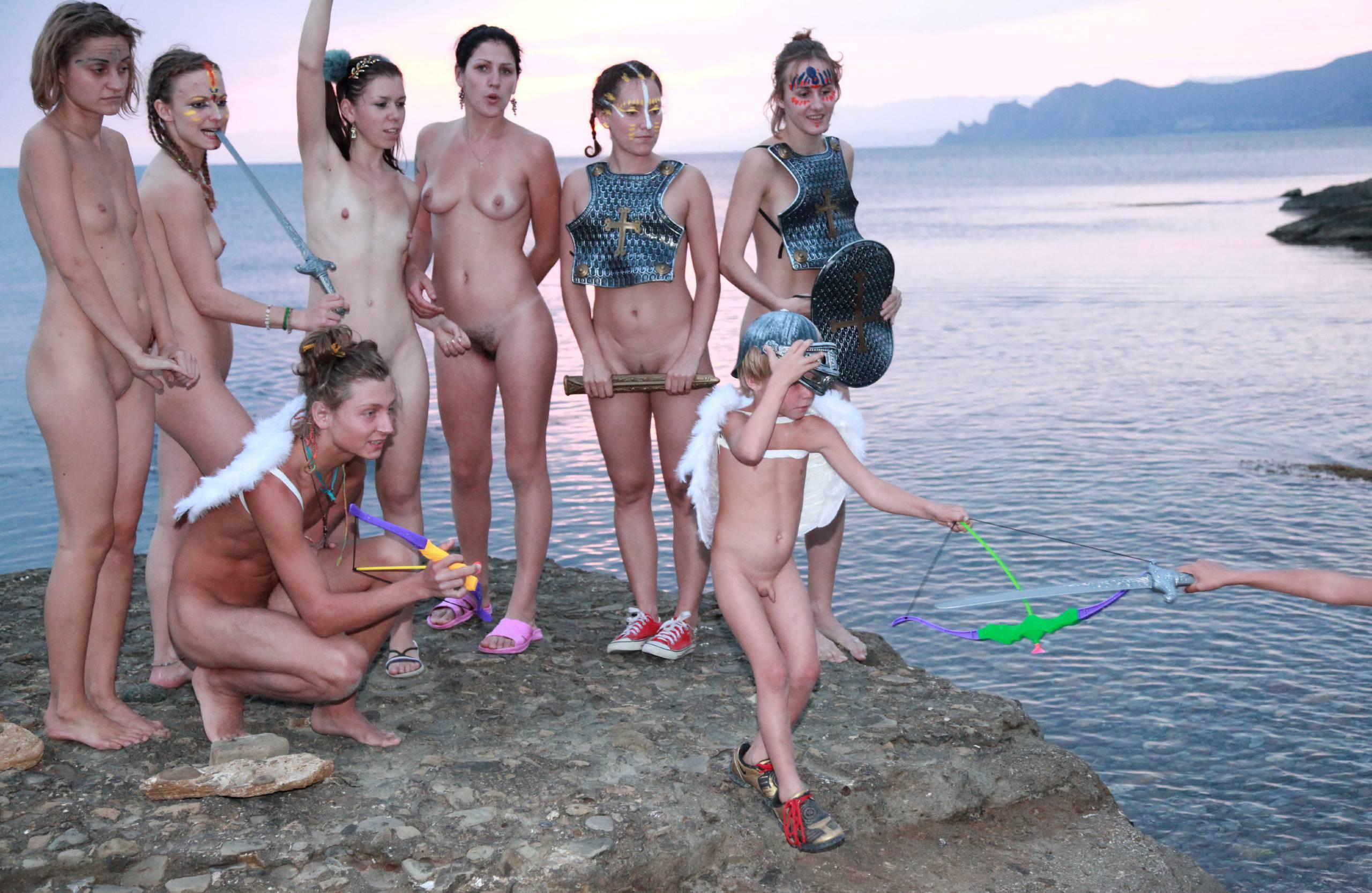 Nudist Pictures Mystical Horsey Riders - 1