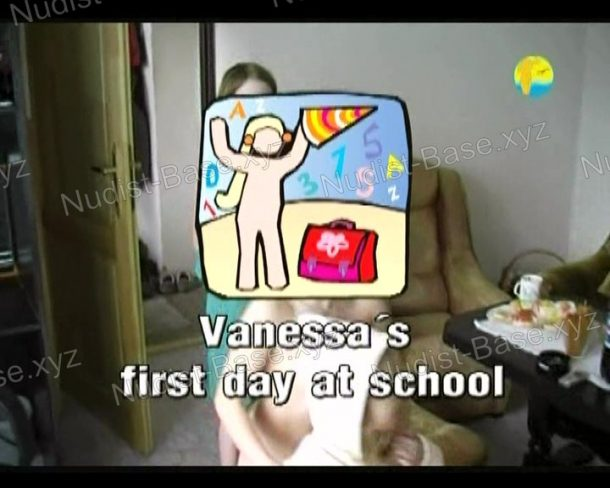 Vanessa's first day at school frame