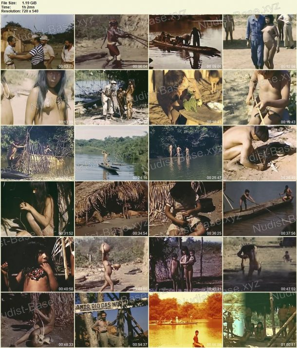 Xingu indians - Expedition to rainforests of Brazil in 1948 film stills 1