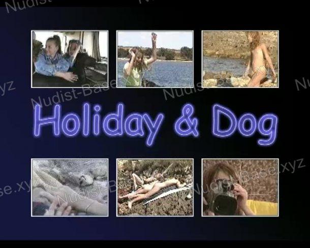 Shot of Holiday and Dog
