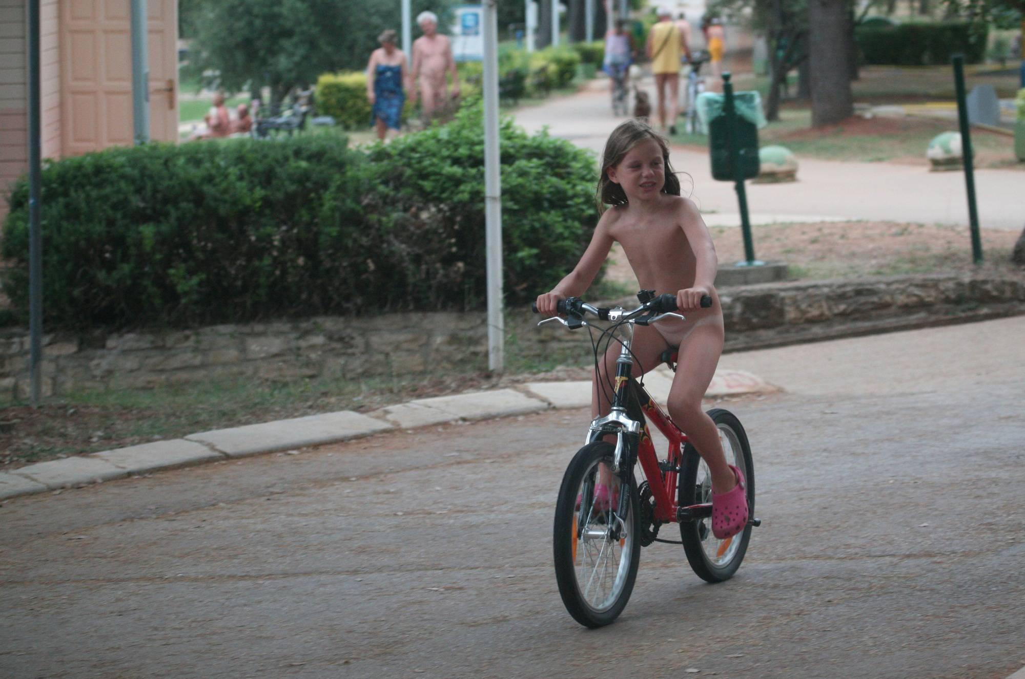 Naturist Kids Road Biking - 2