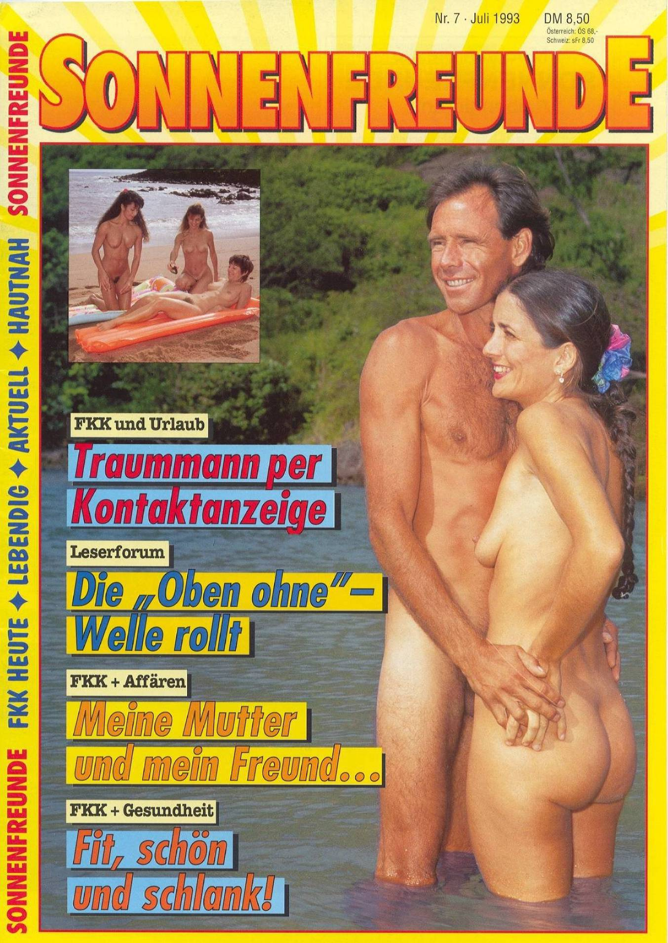 Naturist Magazines Sonnenfreunde 1993 Nr.7 - 2
