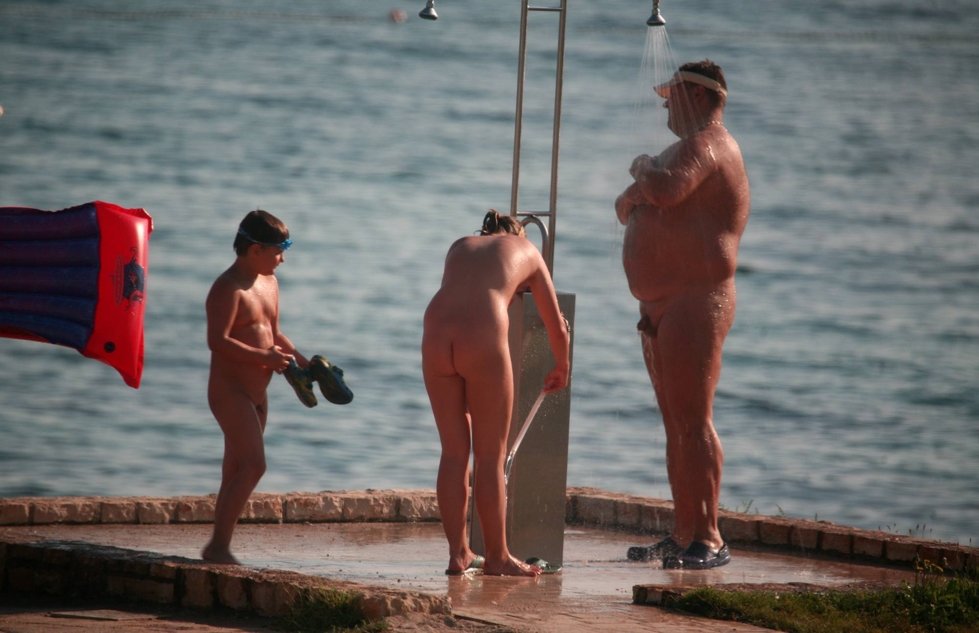 Nudist Pics Naturist Shower at Dusk - 1