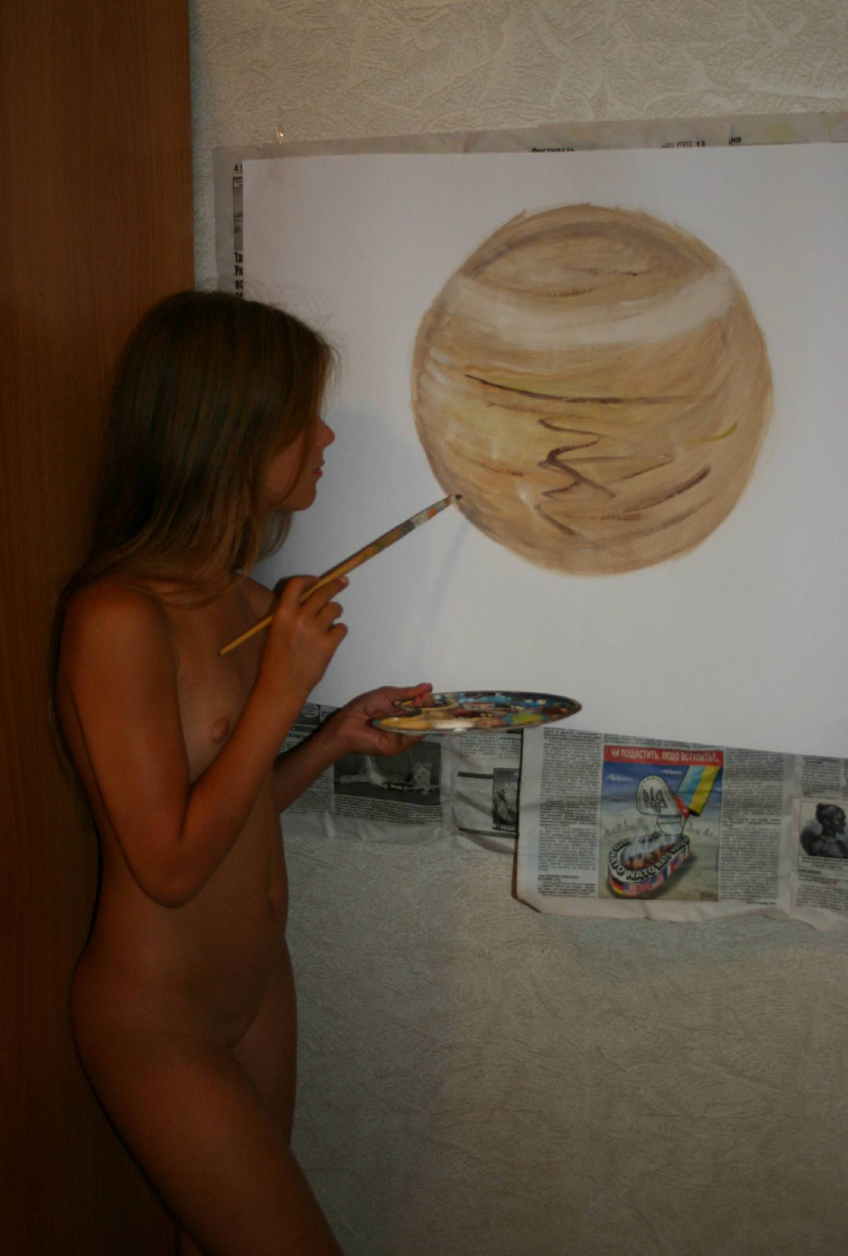 Nudist Gallery Nude Tiger Paint and Colors - 2