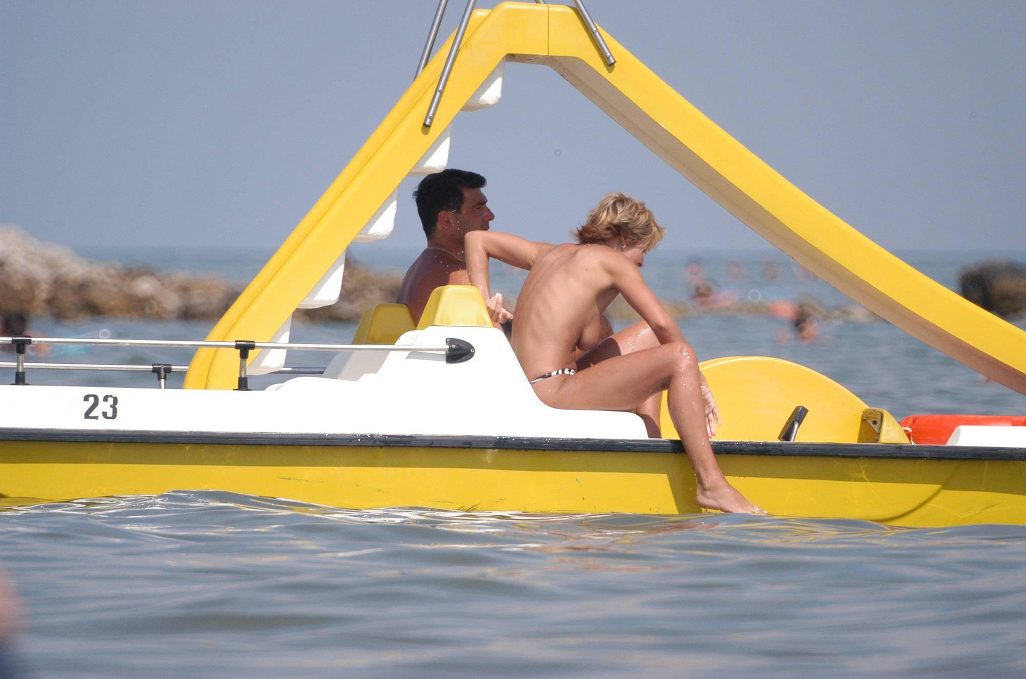 Nudist Pictures Nudist Beach Water Rafts - 1