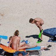 Nudist Family Beach Look