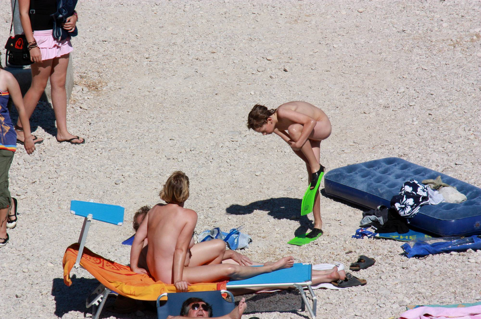 Nudist Family Beach Look - 1