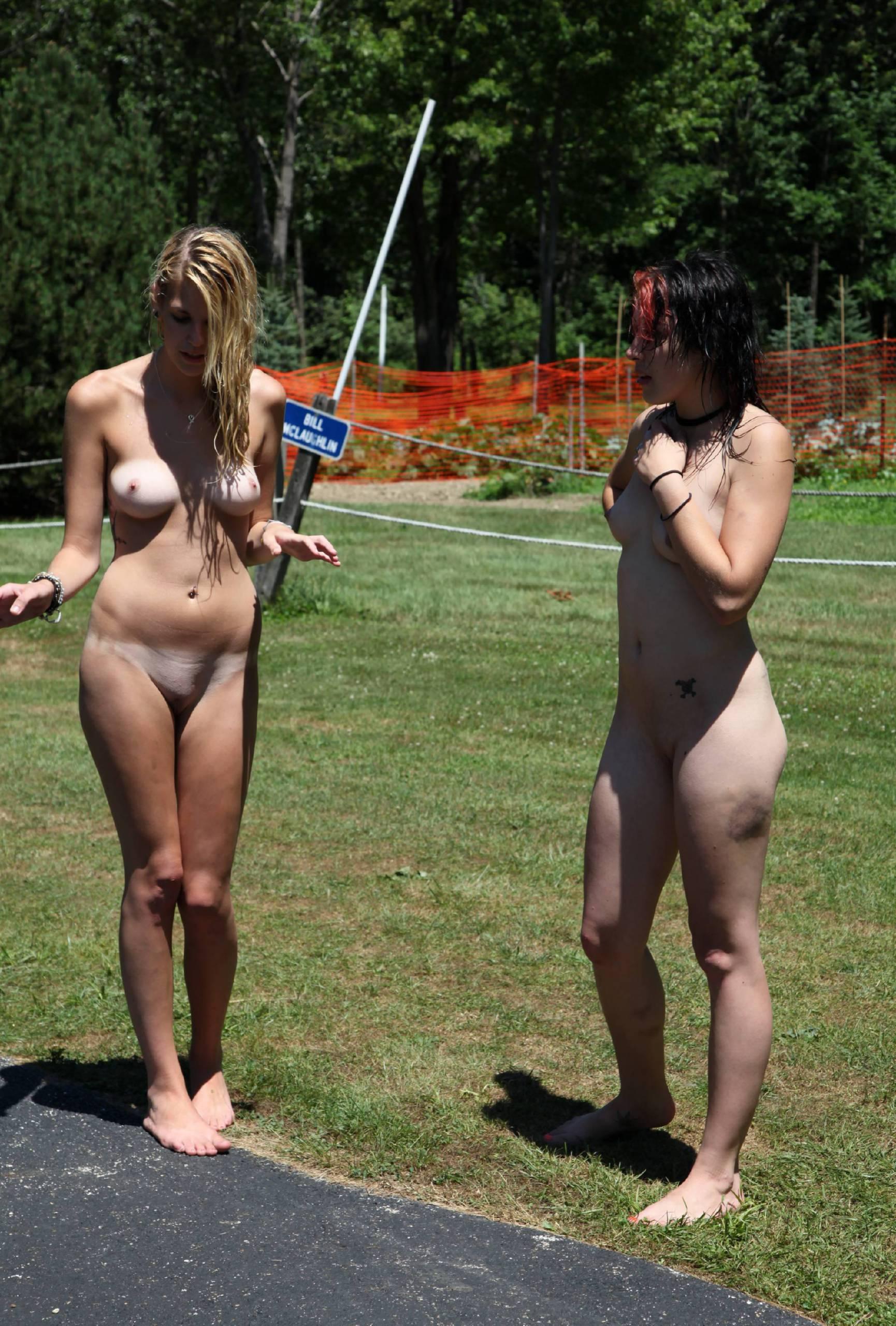 Nudist Pics Grassy Green Delights - 1