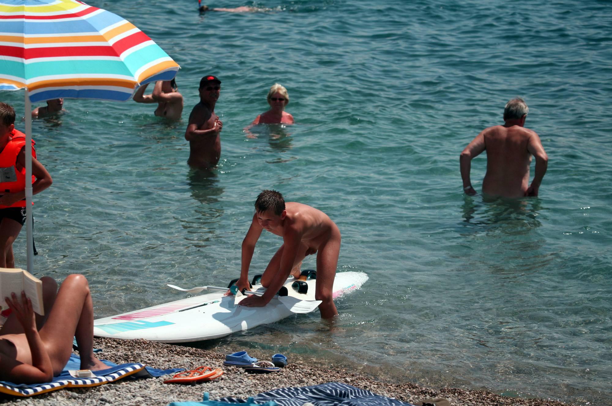 Nudist Photos Nudist Beach Boy Surfing - 2