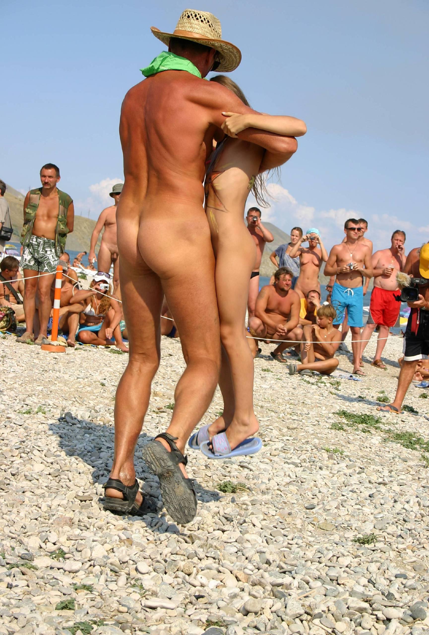 Nudist Photos Sandy Dancing Partners - 1