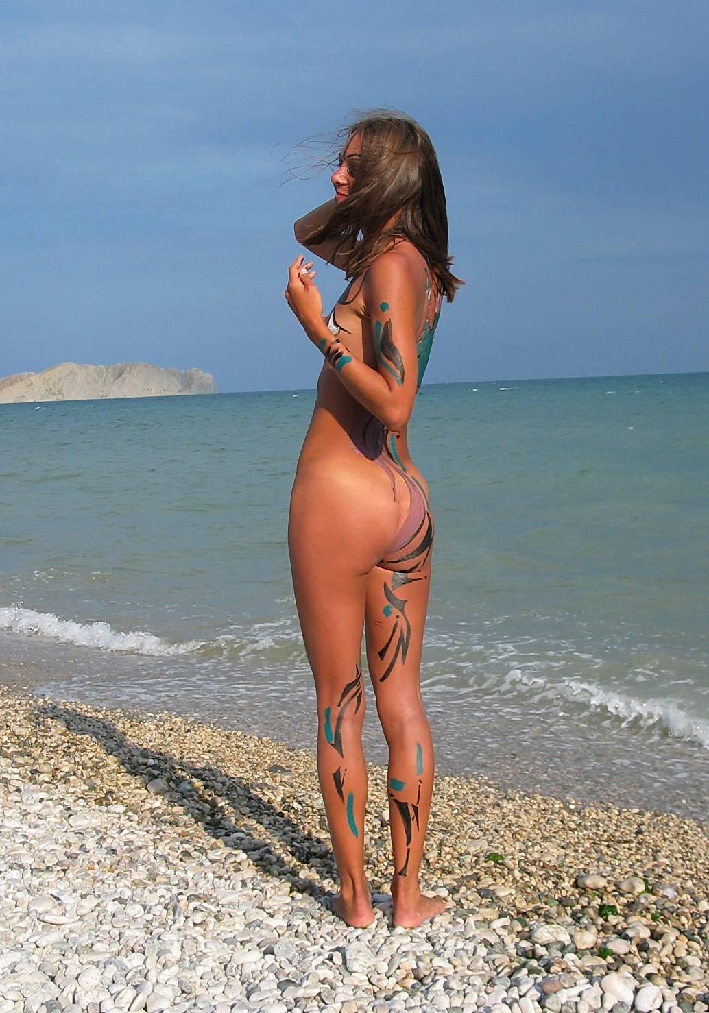 Nudist Pics Seaside Soothing Violinist - 1