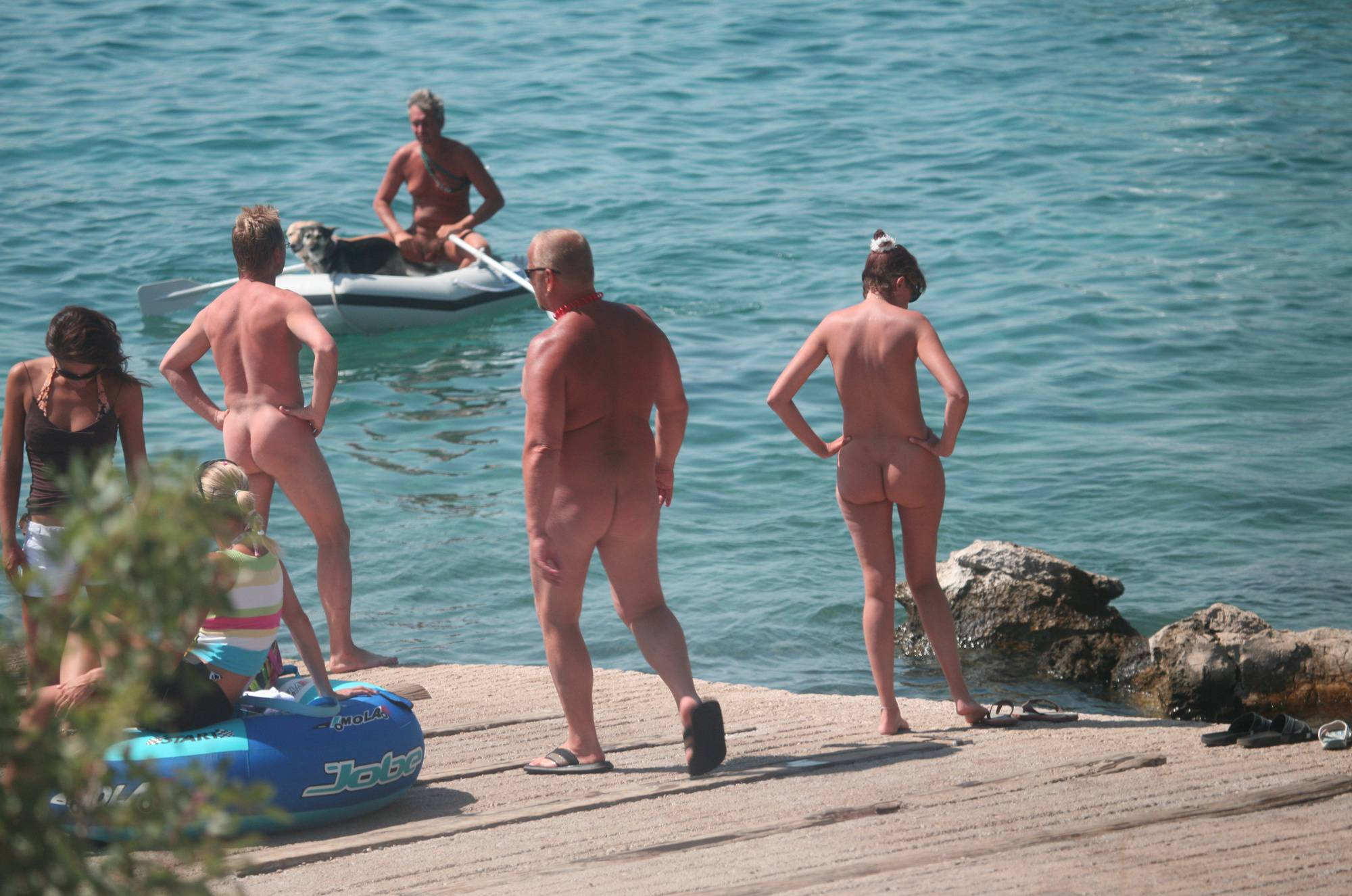Nudist Pics Bares FKK Water Boating - 1