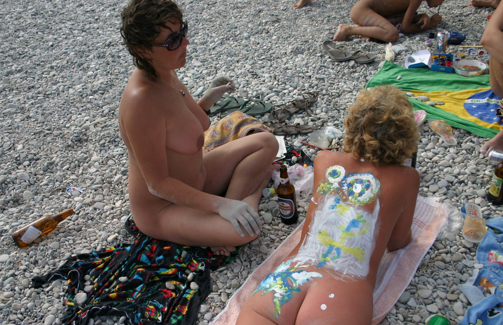 Nudist Pictures Nude Family Body Painting - 2