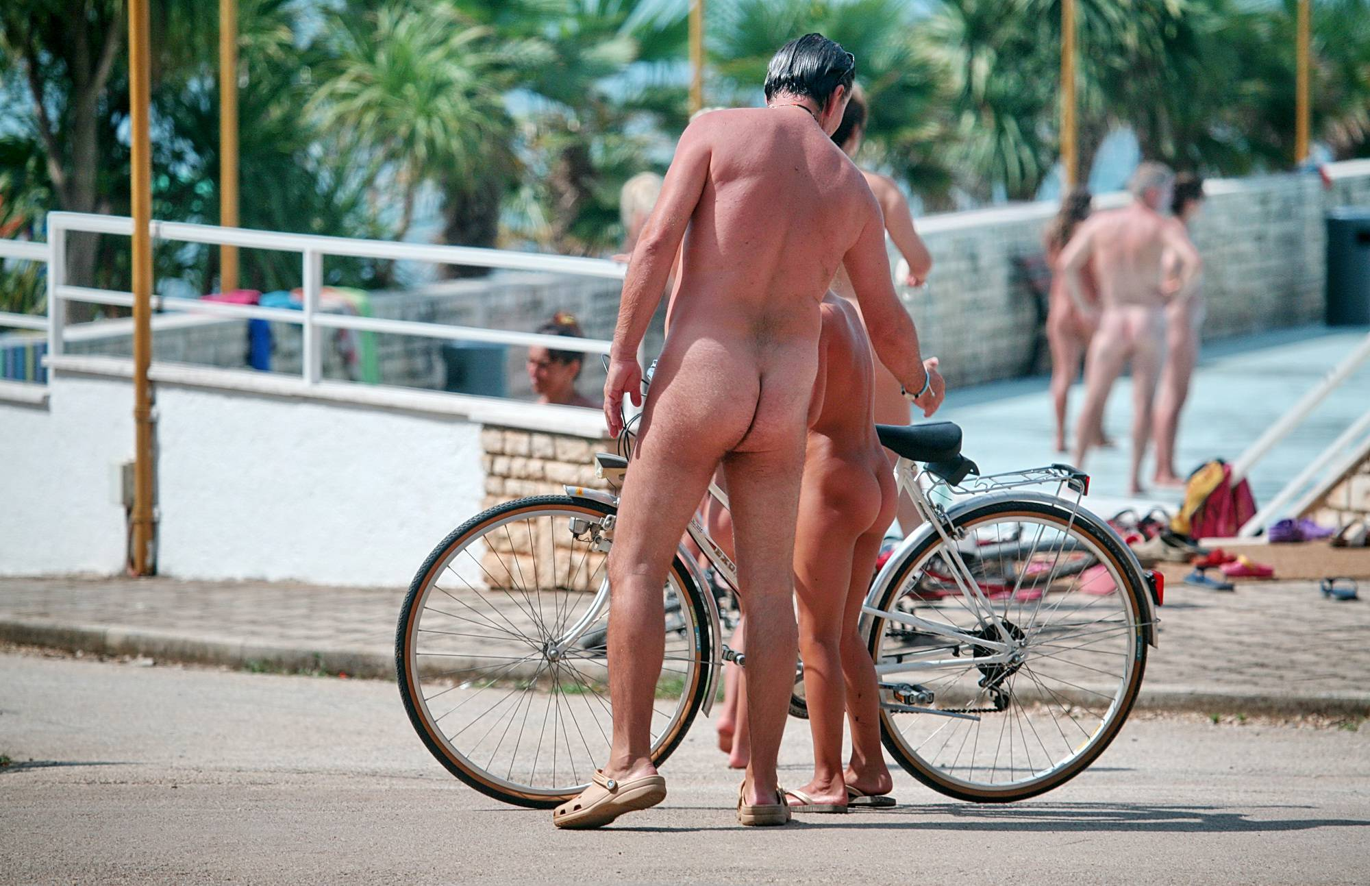 Nudist Pictures Father and Daughter Bike - 1