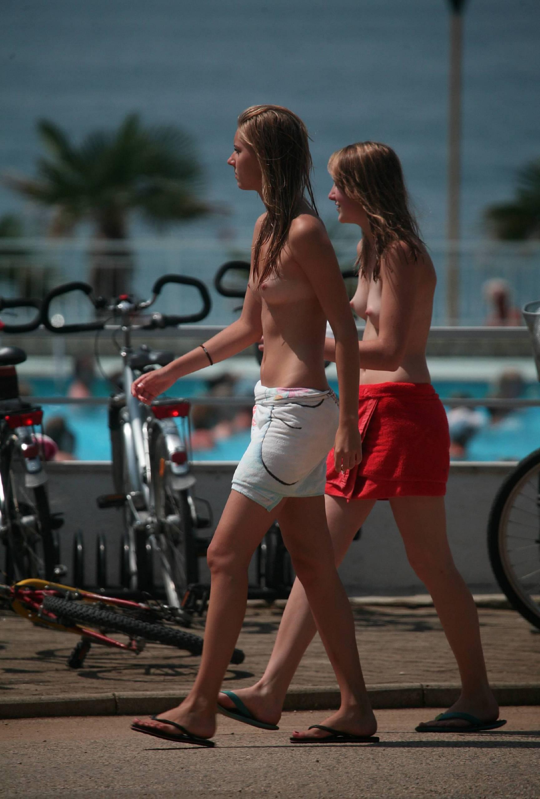 Ladies Biking Near Park - 1