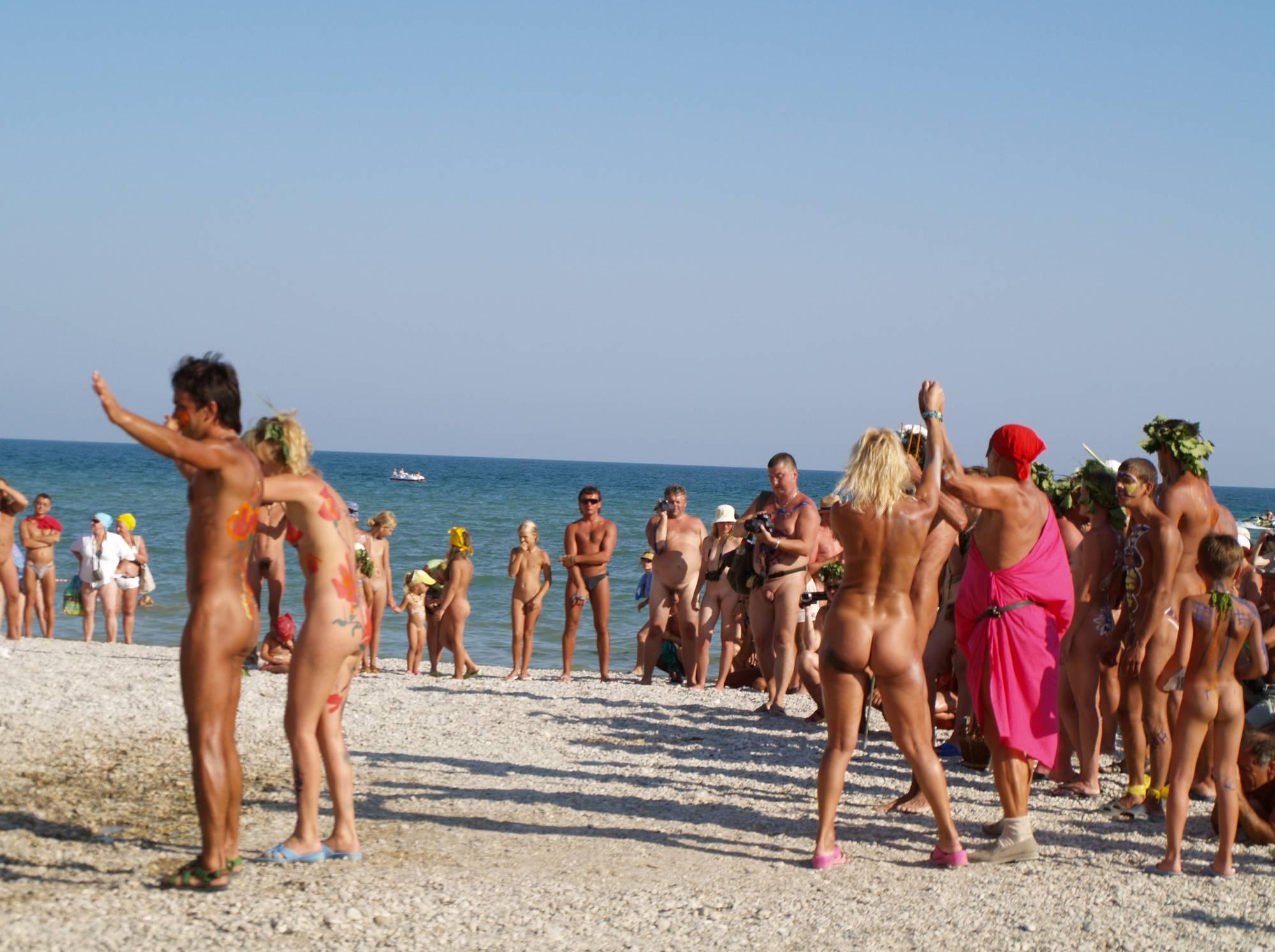 Nudist Beach Day Dancers - 2
