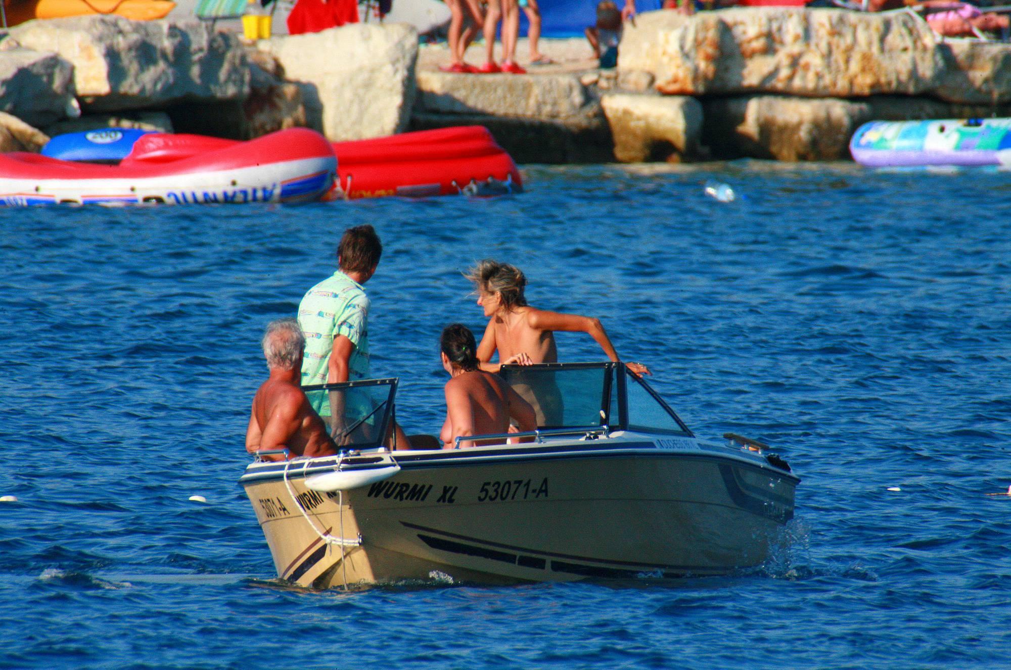 Nudist Pics Uka FKK In-Water Boating - 2