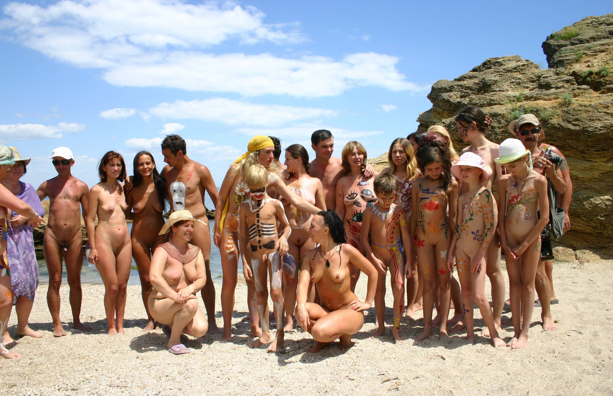 Nudist Gallery Sand Beach Group Photo - 2