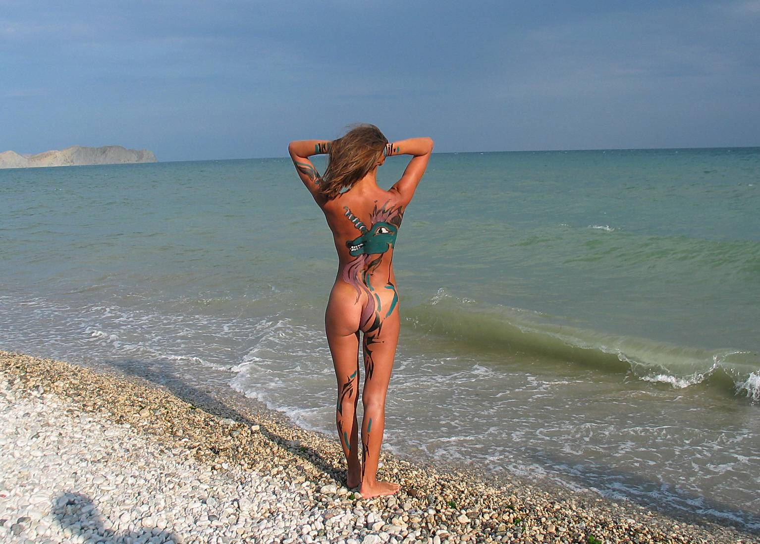 Nudist Pics Seaside Soothing Violinist - 2
