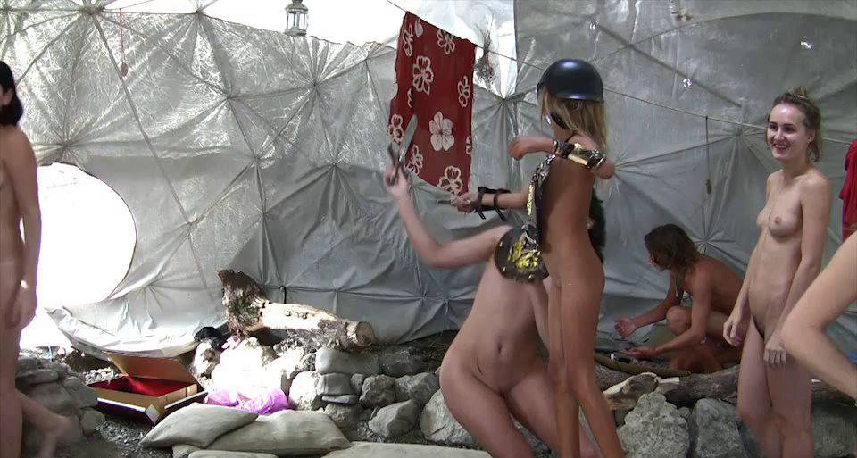 Naturist Videos Silver Outdoor Tent 1 - 1