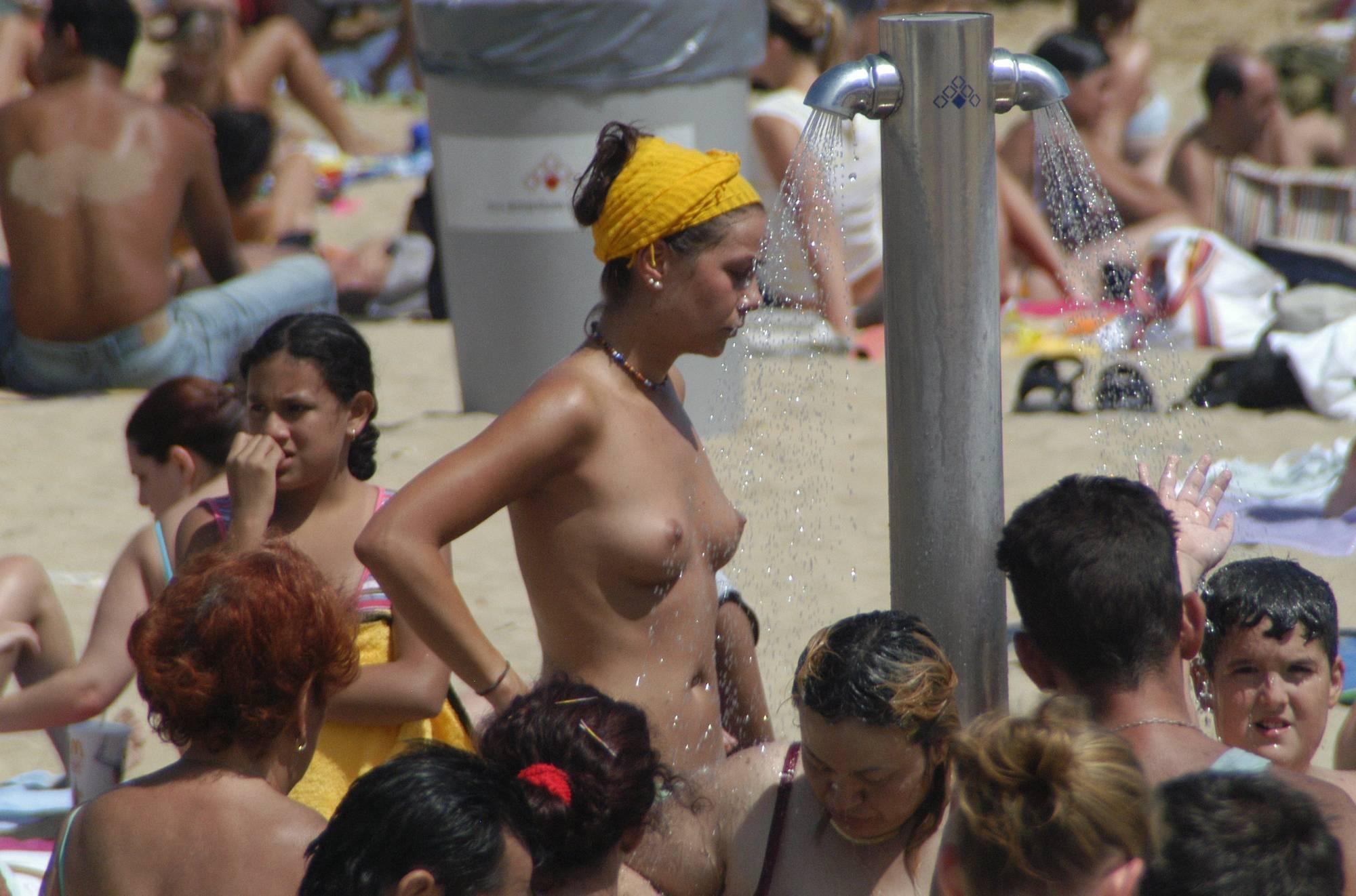 Topless Beach Showers - 2