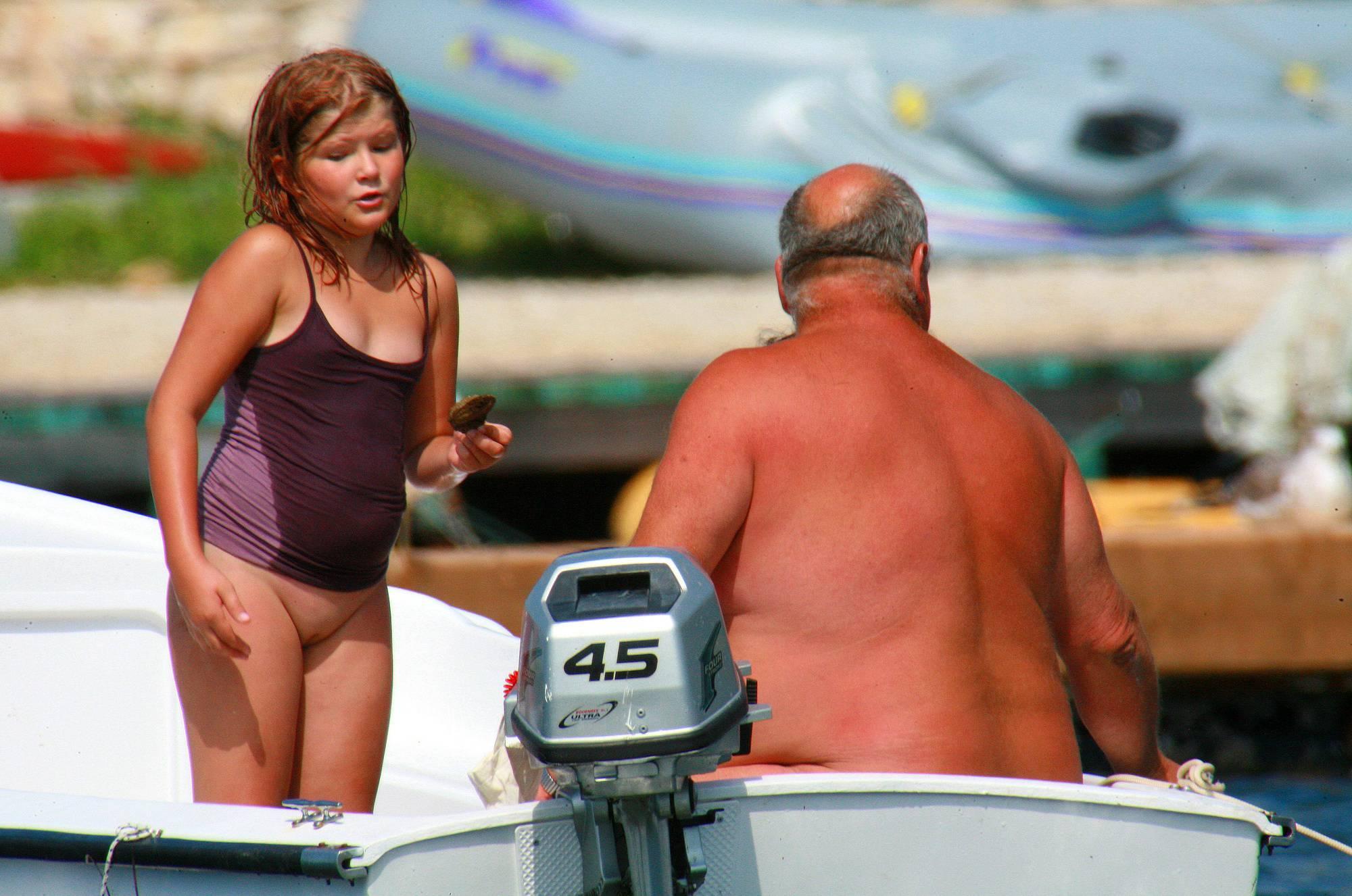 Nudist Pictures Uka FKK In-Water Boating - 1